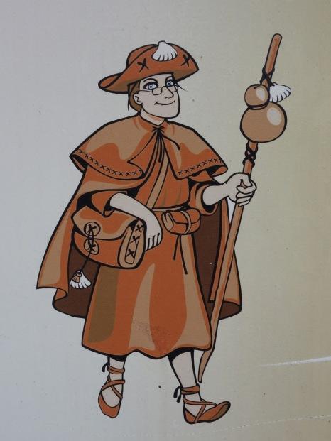 Finally, a female pilgrim!