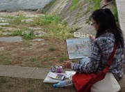Sketching Porto and the river Duoro