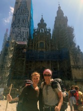 Joanna and I in front of Santiago Cathedral