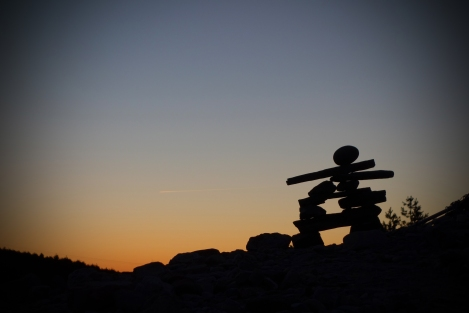 An Inuksuk made by Chantal from Canada