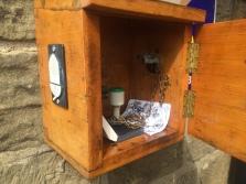 A stamp box outside of the Robin Hood Pub