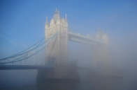 Tower Bridge emerging from the mist