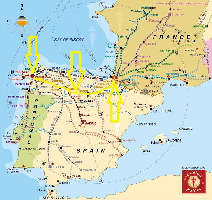 santiago trail spain map with What Is The Camino Frances on Nadezhda Tolokonnikova furthermore Lisa Kolumna blogspot as well Rutas Camino Santiago also The Meseta To Hontanas moreover Karte.
