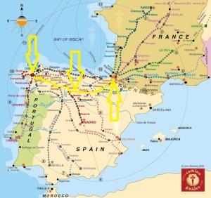 From John Brierley's, 'A Guidebook to the Camino de Santiago'