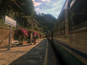 Arriving by train at Monterosso Al Mare