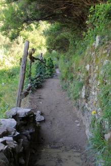 The beginning of the path from Monterosso Al Mare to Vernazza