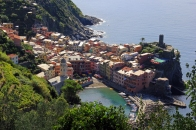 Looking down on Vernazza