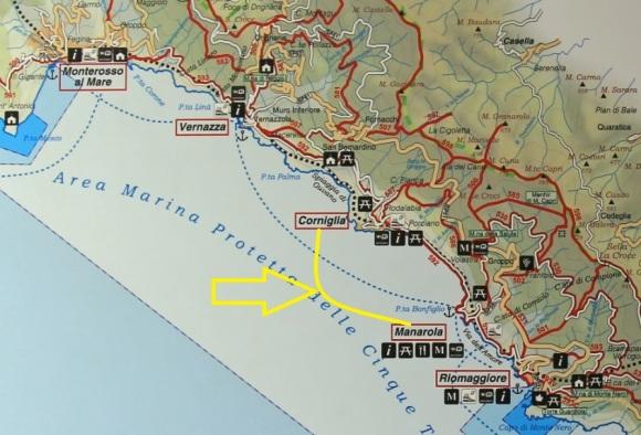 Corniglia Italy Map.Corniglia To Manarola Via Volastra 6km Route 587 586 506