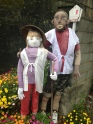 Interesting pilgrim scarecrows?? On our way to Temple 13