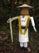 A wooden pilgim statue!