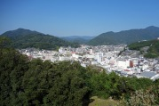 The view of Uwajima from the castle