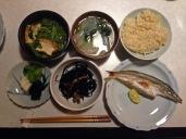 Kazu cooked us this wonderful dinner