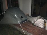 Camping next to Shishikui onsen