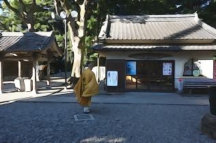 A monk at Temple 24, Hotsumisakiji