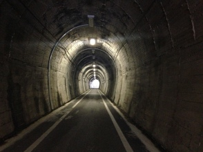 A tunnel for cyclists and pedestrians