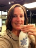 Sake time! Looking very tired but I have bathed in the onsen!