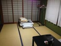 Omogo Ryokan, ¥3,500 (no meals), in central Kuma-kogen, between temples 43 and 44