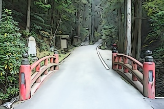 The bridge to Temple 44, Daihoji