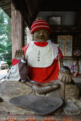 A Jizo statue at Temple 46, Joruriji