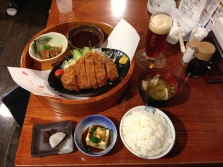 Tonkatsu dinner