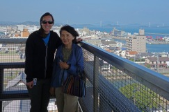 Mrs Tokunaga and me on top of Imabari Castle