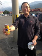 The man who gave me this orange juice as osettai