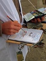 Katsumi sketching Temple 75