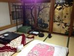 On Koyasan (mainland) at Muryokoin Temple, ¥5000 incl dinner and breakfast, communal bath