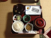 Breakfast at Muryokoin Temple, in Koyasan