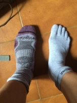 Trialling out new Injinji toe socks to prevent the blister I usually get on my little toes