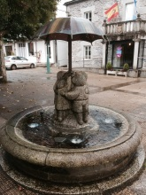 Fountain in Castroverde near the church