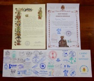 The certificate on the right is from the San Francisco church, it is a special certificate for this year only as they are celebrating 800 years.
