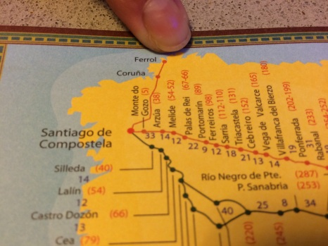 Camino Ingles, from my finger (Ferrol) to Santiago