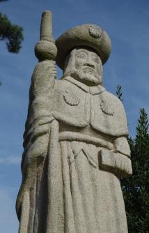 A statue of Santiago