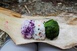Lunch box of onigiri rice balls from Minshuku Nakano