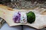 Lunch box of onigiri rice balls from Minshuku Nakano