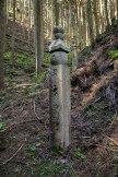 A choishimichi stone marker