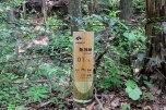 Hajikami toge pass wooden marker, Iseji route