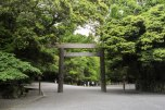 Wooden Torii gate in Ise Naiku Shrine