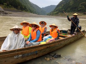 Traditional boat tour down the Kumano gawa river
