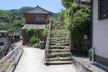 Leaving Nigishima and uphill to start Nigishima-toge pass, Iseji route