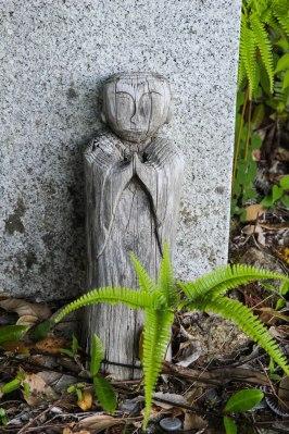 Wooden jizo statue along the Obuki toge pass, Iseji route