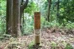 Sone-jirozaka-tarozaka wooden marker on Hobo toge pass