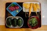 Dinner set at Meharizushi Nidaime in Kii Katsuura
