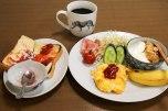 Western breakfast at Minshuku Kosakoya, Kii Katsuura