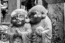 Jizo statues in Okunoin cemetery, Koyasan