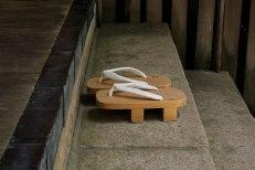 Wooden clogs at the Danjo Garan temple complex, Koyasan