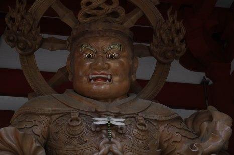 Guardian statues at Kongobuji