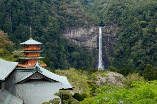 Nachi falls and a 5 story pagoda
