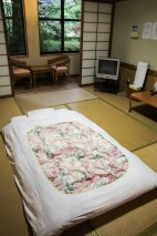 My room at Shizen no Ie, the converted old school in Koguchi